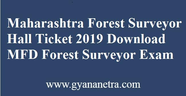 Maharashtra Forest Surveyor Hall Ticket