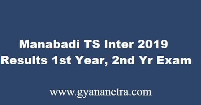 Manabadi TS Inter Results March 2019