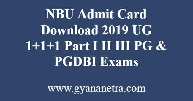 NBU Admit Card Download