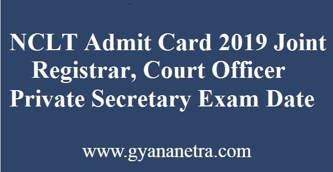 NCLT Admit Card