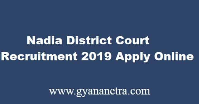Nadia District Court Recruitment 2019