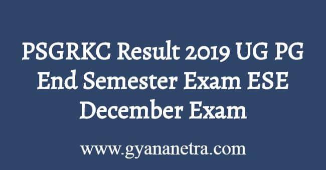 PSGRKC Result November December 2019