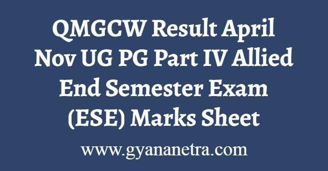 QMGCW Result April November