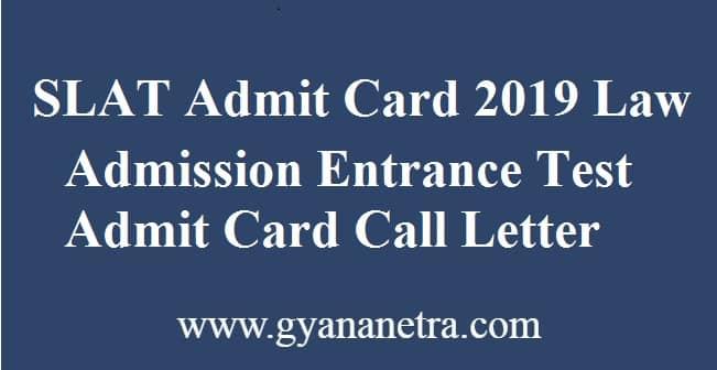 SLAT Admit Card