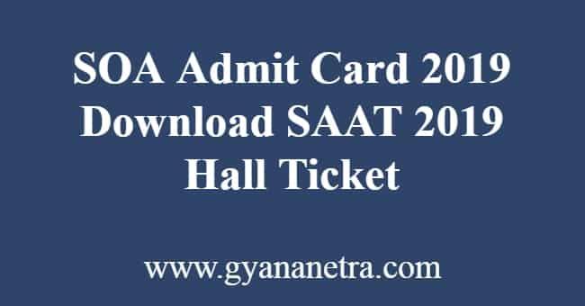 SOA Admit Card