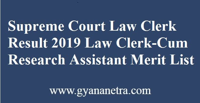 Supreme Court Law Clerk Result