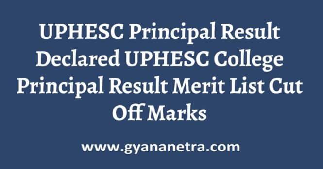UPHESC Principal Result Merit List