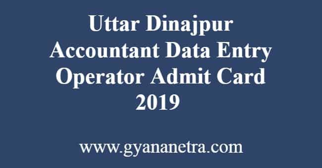 Uttar Dinajpur Accountant DEO Admit Card