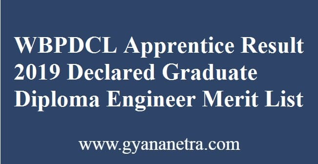 WBPDCL Apprentice Result