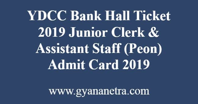 YDCC Bank Hall Ticket