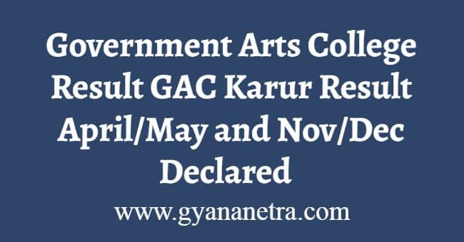 GAC Karur Result April November