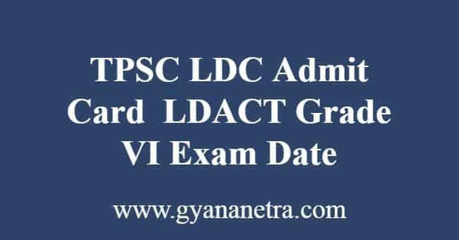 TPSC LDC Admit Card