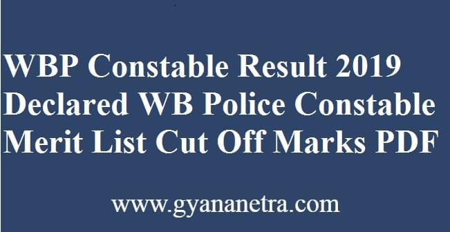 WBP Constable Result