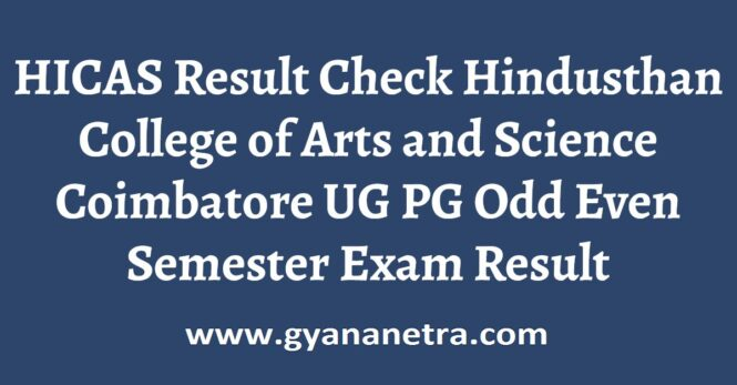 HICAS Result Check Online