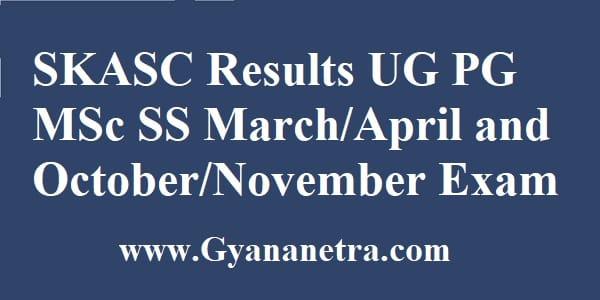 SKASC Results Check Online
