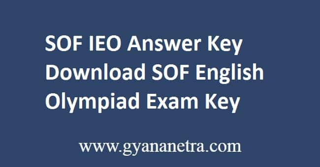 SOF IEO Answer Key PDF