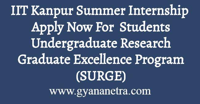 IIT Kanpur Summer Internship