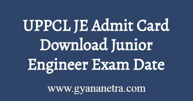 UPPCL JE Admit Card