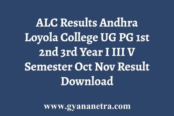 Andhra Loyola College Results