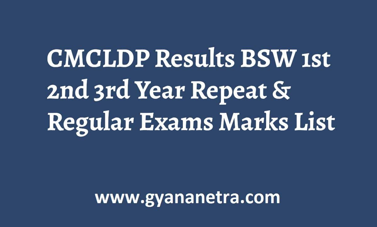 CMCLDP Results Check