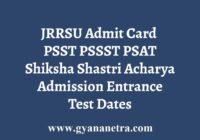 JRRSU PSST PSSST PSAT Admit Card