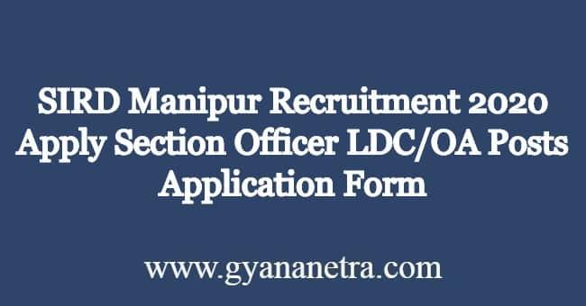 SIRD-Manipur-Recruitment-2020