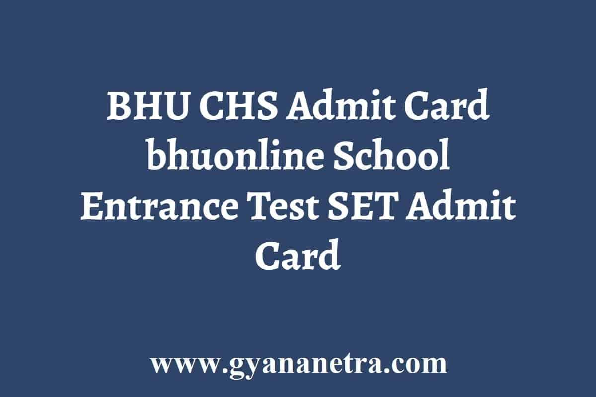 BHU CHS Admit Card