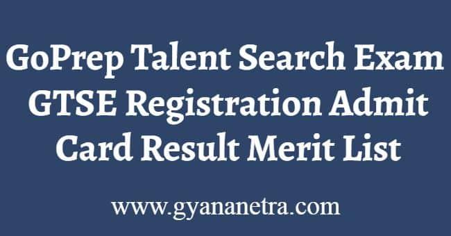 GoPrep Talent Search Exam