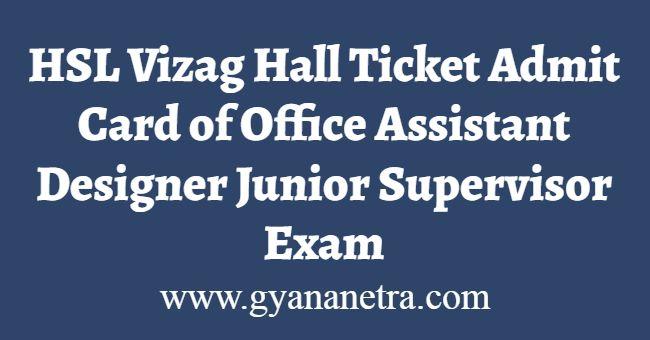 HSL Vizag Hall Ticket