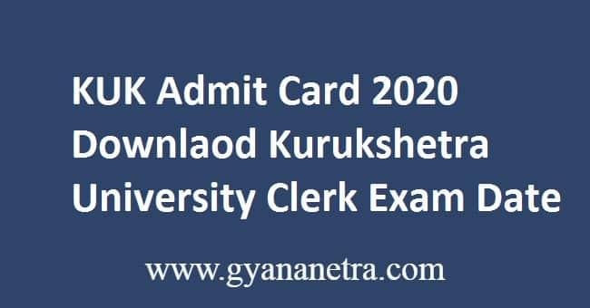 KUK Admit Card 2020