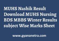 MUHS Nashik Result Check Online
