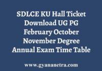 SDLCE KU Hall Ticket