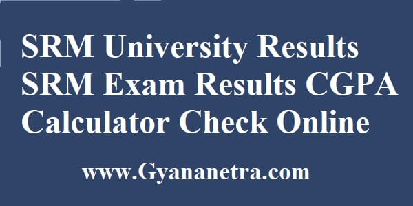 SRM University Results Check Online