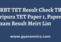TRBT TET Result Check Online