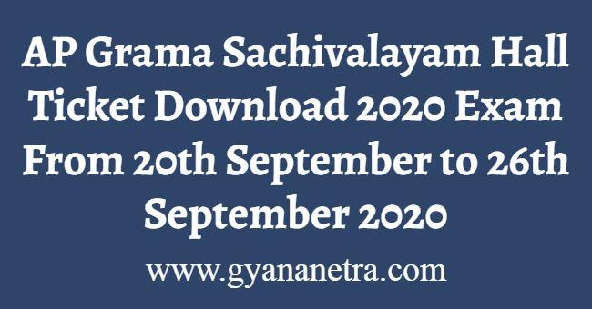 AP Grama Sachivalayam Hall Ticket Download