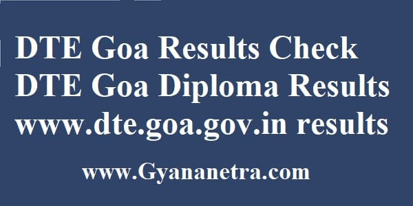 DTE Goa Results Diploma Exam