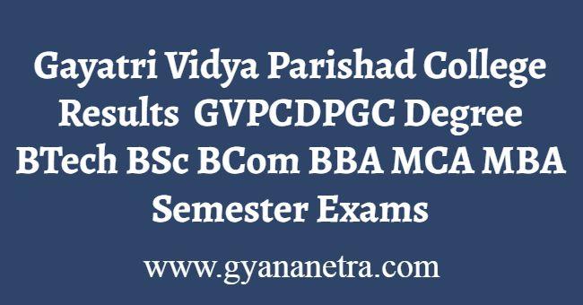 Gayatri Vidya Parishad College Results