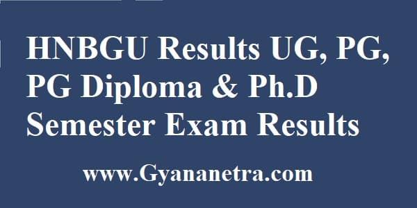 HNBGU Results Check Online
