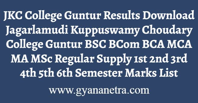 JKC College Guntur Results