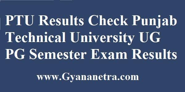 PTU Results Punjab Technical University