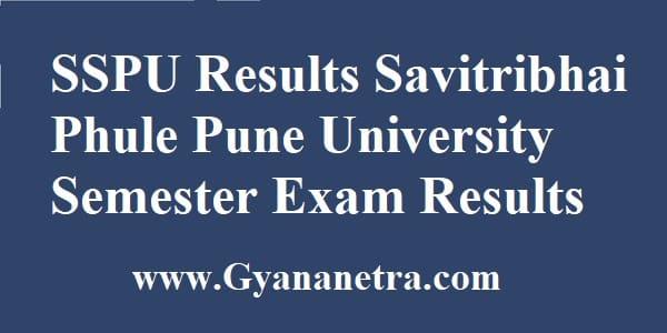 SSPU Results Semester Exam