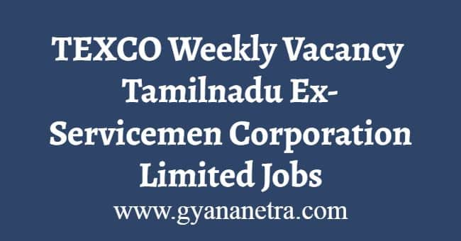 TEXCO Weekly Vacancy