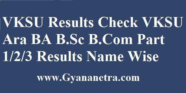 VKSU Results UG PG Semester Exam