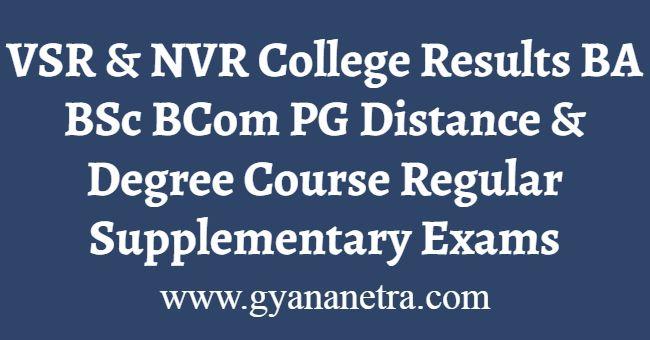 VSR NVR College Results