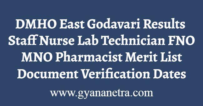 DMHO East Godavari Results