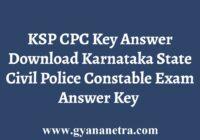 KSP CPC Key Answer Download
