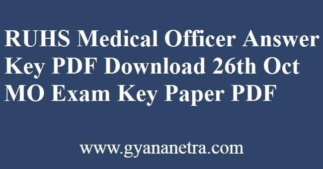 RUHS Medical Officer Answer Key