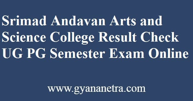 Srimad Andavan Arts and Science College Result
