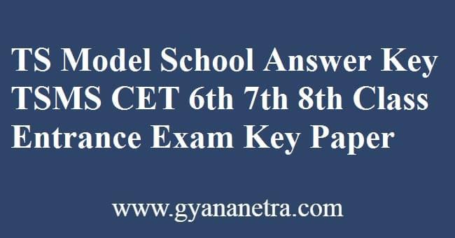 TS Model School Answer Key PDF