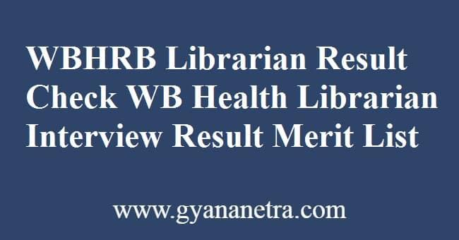 WBHRB Librarian Result